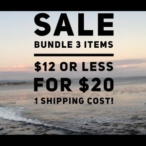 SALE. BUNDLE 3 items for $20 INCLUDES HOME STORE